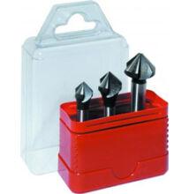 Kúpsüllyesztő készlet DIN 335 Z3 FormC HSS 90° d 12 / 16 / 20 Narex 741804