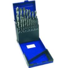 Csigafúró készlet DIN 338 RN FormN 118° HSSCo5 köszörült d 1-10,0/0,5 19 részes Narex CZ