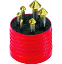 Kúpsüllyesztő készlet DIN 335 Z3 FormC HSSE 90° d 6,3-20,5 / 6 részes Walter Titex Z3711 TiN